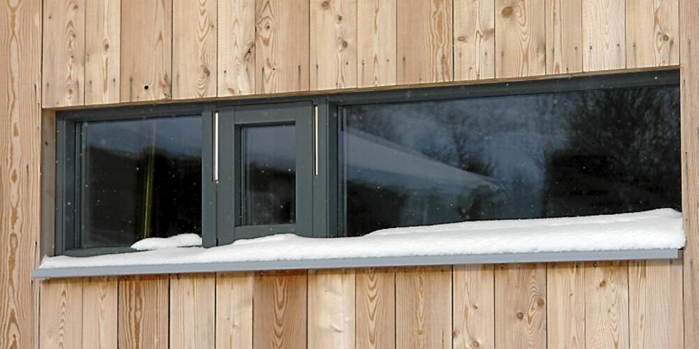 RÅTT OG ENKELT: Smale vinduer i hodehøyde gir et flott uttrykk.