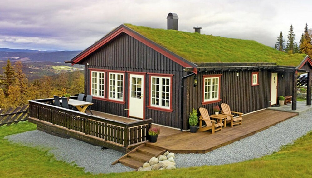 SELVTEGNET HYTTE: Denne hytta tegnet Roger Samdal selv ved hjelp av et digitalt tegneprogram.