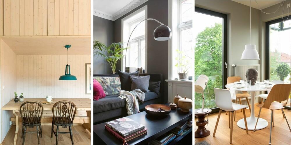 INTEGRERT OPPBEVARING: 1. Planlegg plass til oppbevaring når dere planlegger romløsningen. I dette prosjektet ved Kasper Bonna Lundgaard, er det tegnet inn store, lukkede skap over spiseplassen på kjøkkenet. 2. Det at et rom kan brukes på nye måter, ettersom behovene melder seg, er et tegn på kvalitet. I gamle bygårder er vinduene gjerne plassert med jevne intervaller. Ved å plassere en vegg mellom vinduene kan denne stuen bli til to rom. 3. Boligblokken i Dælenenggata 36 i Oslo har fått flere priser for sin høye kvalitet. Ettersom bygningen er relativt kompakt, er flesteparten av boligene hjørneleiligheter med vinduer på tilstøtende vegger.