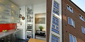 SMART INNREDNING: På 58 kvadratmeter på Tøyen har arkitekt Tord Kvien innredet med sans for praktiske og originale løsninger.