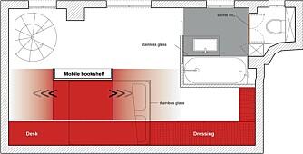 GODT UTNYTTET: Ingen plass går til spille i den smarte leiligheten