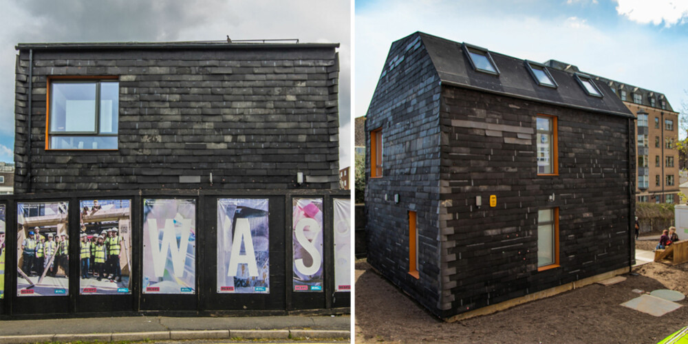 GAMLE GULVFLISER: Trash House tar i bruk søppel og overskuddsmaterialer fra private hus, byggeplasser og annen industri.