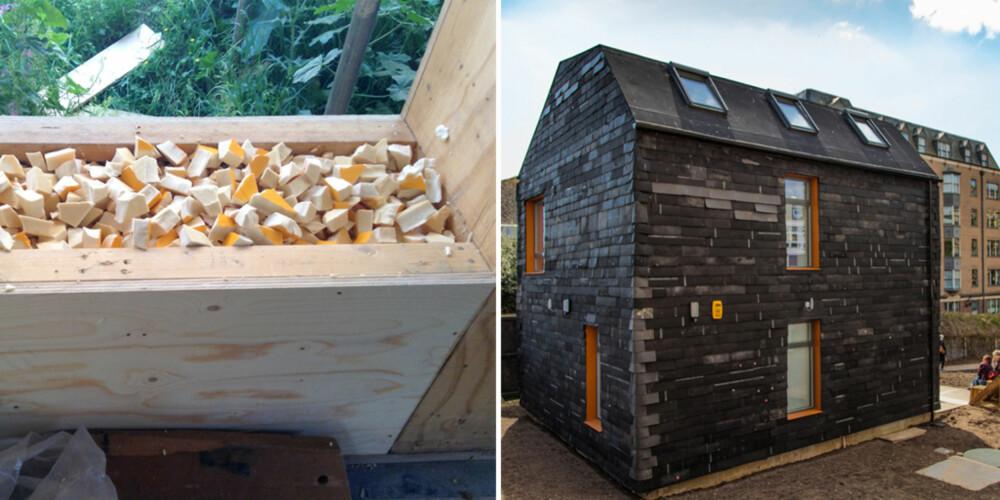 """BANEBRYTENDE: Huset som ligger på universitetsområdet til University of Brighton, brukes i undervisningen av design- og arkitektstudenter som et """"levende laboratorium"""" ifølge arkitektene."""
