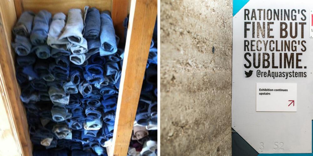 ISOLASJON: Du visste kanskje ikke at du kunne bruke olabuksene du ikke lengre passer til å isolere huset ditt?