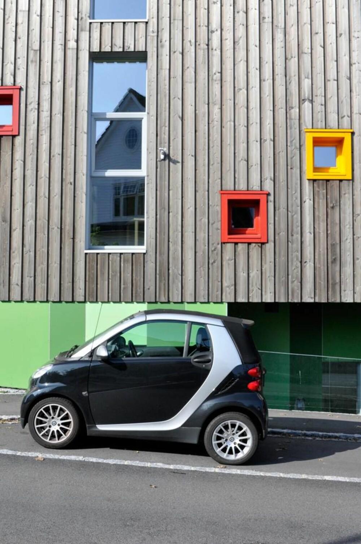 ENERGIVENNLIG: Hele prosjektet er basert på tanken om et minst mulig økologisk fotavtrykk, derfor er det blant annet tilrettelagt for el-biler og sykkelparkering.