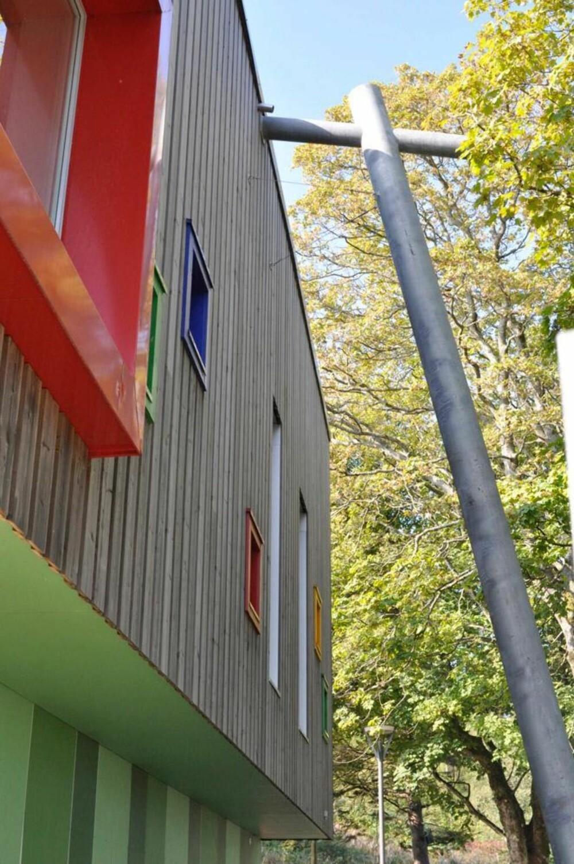 TYKKE VEGGER: For å holde passivhusstandarden er det lagt 350 mm isolasjon i veggene, mens man i taket har brukt 500 mm isolasjon.