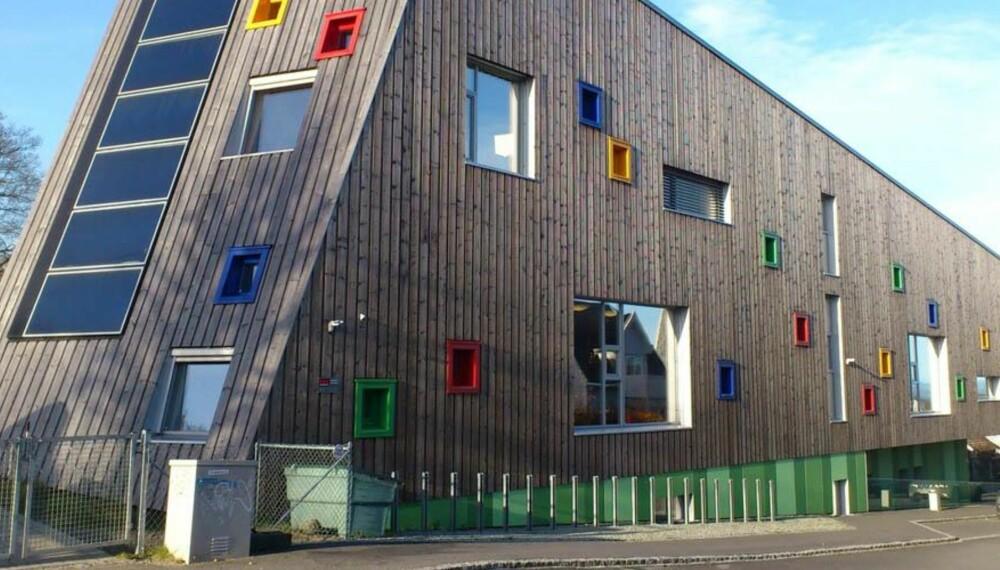 PASSIVT FOR AKTIVE BARN: Vålandshaugen barnehage i Stavanger er bygget etter passivhusstandard og er en del av prosjektet Fremtidens byer.