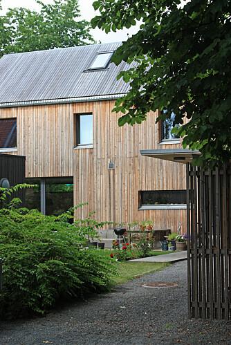 EN LITEN OASE: Huset ligger innerst i en gammel villahage på Skøyen.