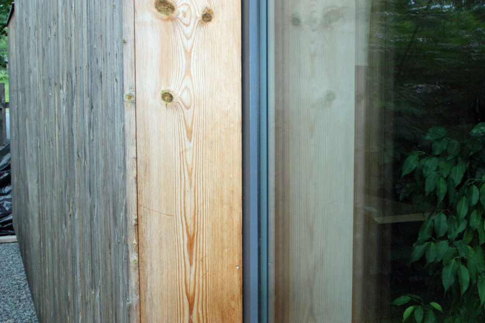 TYKKE VEGGER: Ett kjennetegn på et passivhus er de tykke ytterveggene som skal gi særlig god isolasjon.