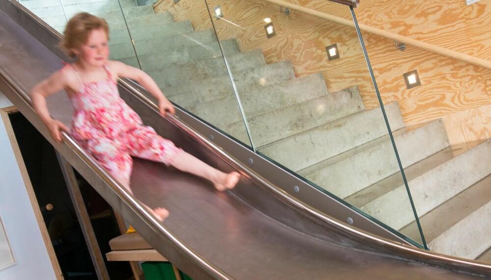 FULL FART: Stålsklien brukes ofte av barna, og noen ganger av de voksne.
