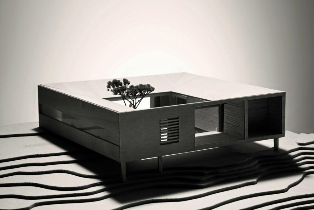 SJABLONUTTRYKK: Husets enkelhet og likefremhet kommer tydelig frem på denne modellen.