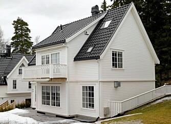 SØRLANDSINSPIRERT: De fire eneboligene på Ris i Oslo er tegnet av arkitekt MNAL Lorentz Gedde-Dahl og ble oppført i 2006.
