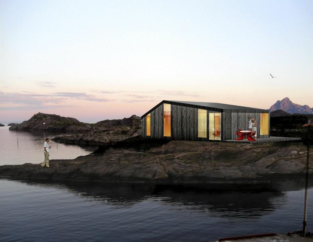 WOW: 810-modellen i Blåtann-serien fra NSW Arkitekter og Vikinghytter åpner seg med store glassflater mot naturen.