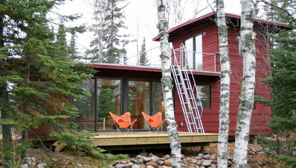 MINIHUS: De små husene rommer alt man trenger på liten plass. Husene er bygget opp av ulike moduler som gir kunden stor valgfrihet med tanke på størrelse og design.