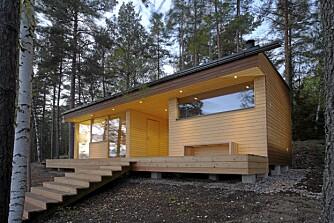 EN OPPKVIKKER: En liten hytte/sauna som dette gleder alle friluftsinteresserte.