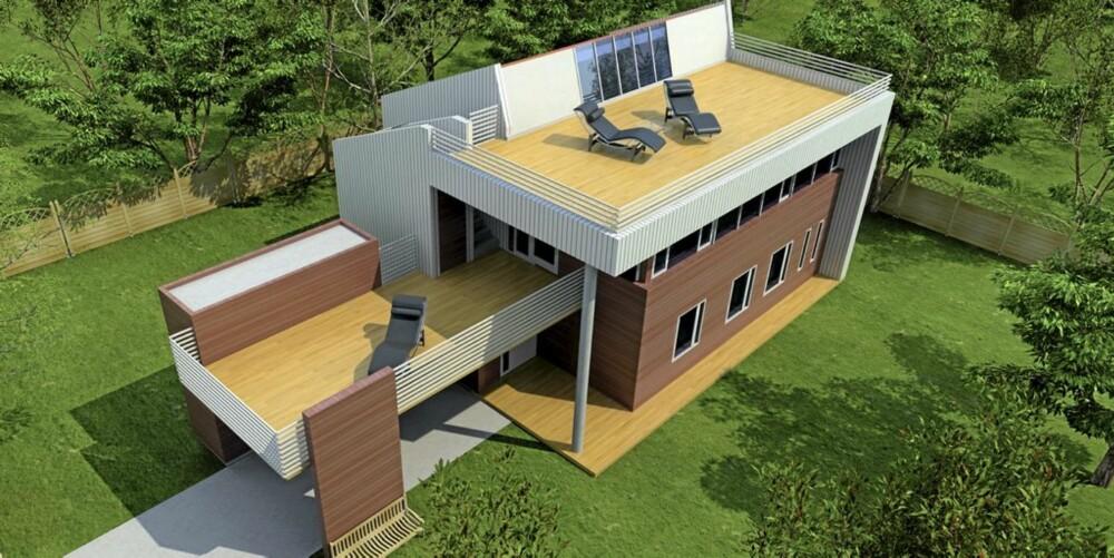 CELSIUS: Celsius fra Systemhus er et passivhus og bruker minimalt med strøm til oppvarming.