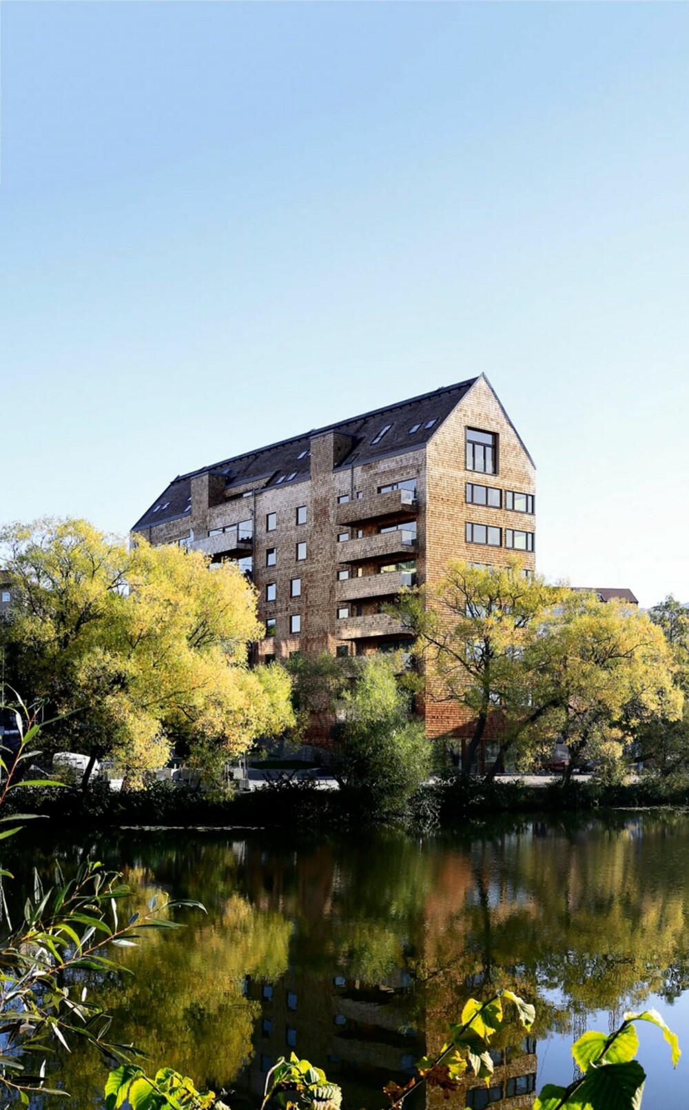 TREKONSTRUKSJON: Boligkomplekset inneholder 31 leiligheter og er i sin helhet bygget i tre.
