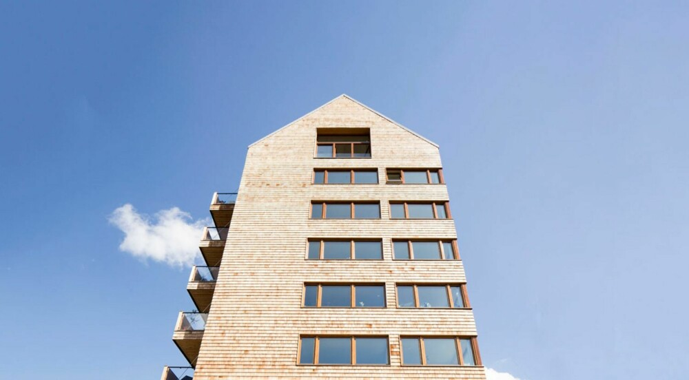 MONOPOLBYGG: Som et hotell i et Monopolspill tårner boligkomplekset opp.