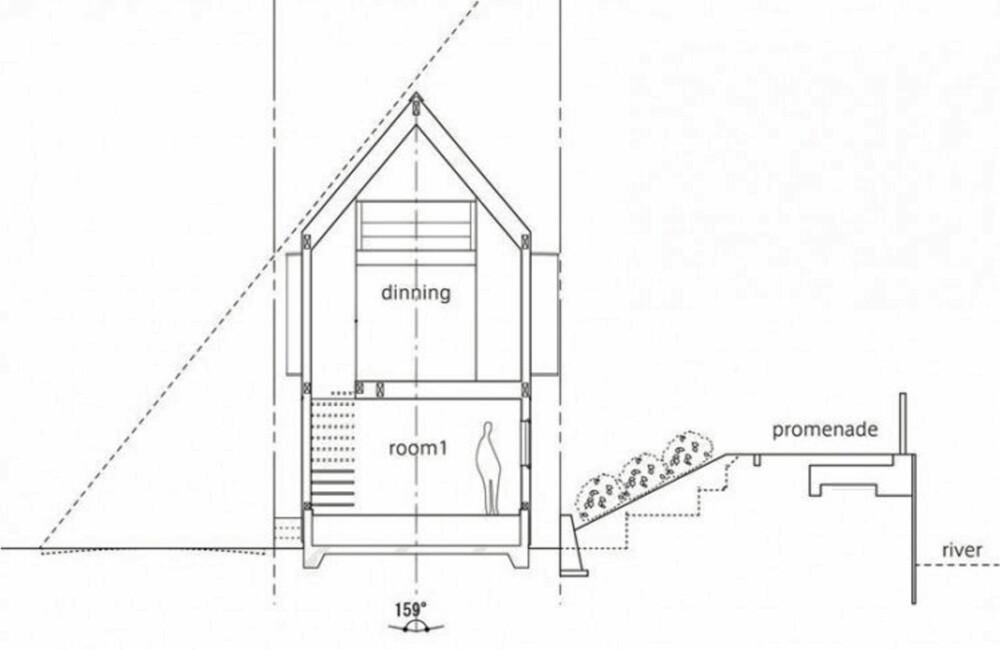ARKITEKTKUNST: En smal og vanskelig tomt krevde at arkitektene tenkte utenfor boksen når de planla dette huset.