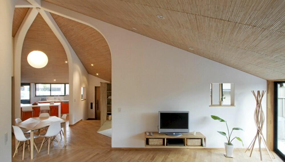 TRADISJONELT: Det utradisjonelle huset er bygget med tradisjonelle, Japanske teknikker og materialer.