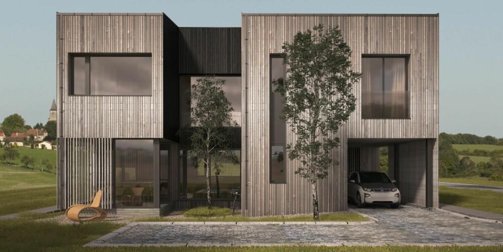 RENE LINJER: Entrepenør Håvar Moe i Novicon ser en økende tendens til at folk ønsker moderne arkitektur med rene linjer og eksklusiv standard.