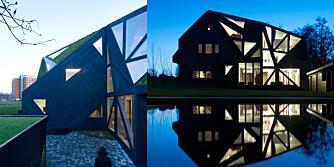 GEOMETRI: Se hvordan arkitektene lagde husets unike utside.