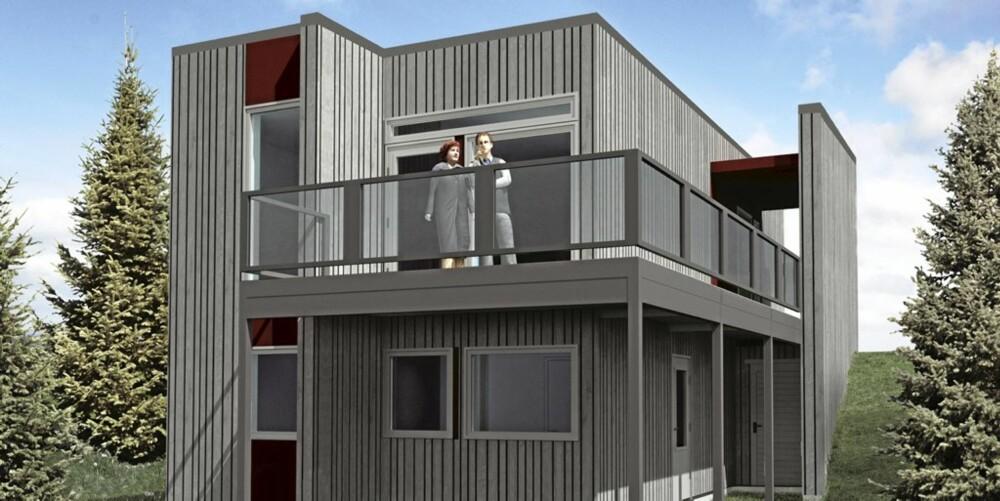 KONGLA: Enda et hus fra Norgeshus.