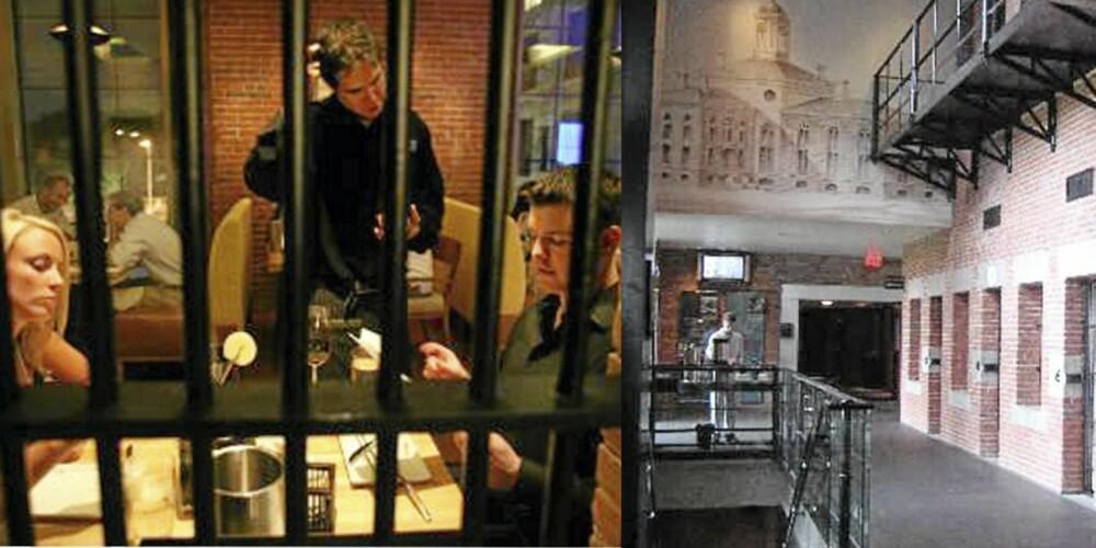 PÅ CELLA: Nyt middag og en god natts søvn i dramatiske omgivelser på Loberty Hotel i Boston.