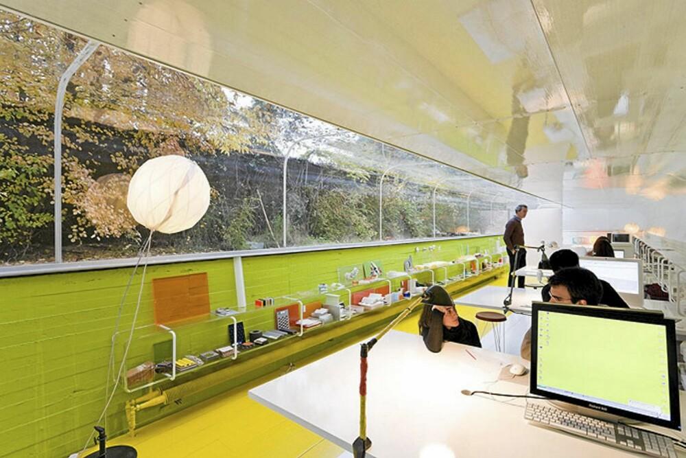 GRØNNE TANKER: Dette kontoret er i pakt med naturen.