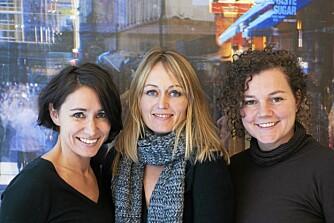 DET KREATIVE TREKLØVER BAK PROSJEKTET: Fra venstre arkitektene Margrethe Rosenlund, Caroline H. Støvring og Cecilie Wille.