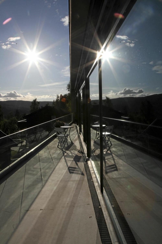 HUSET I FOKUS: Dette er et utested for solrike opplevelser.