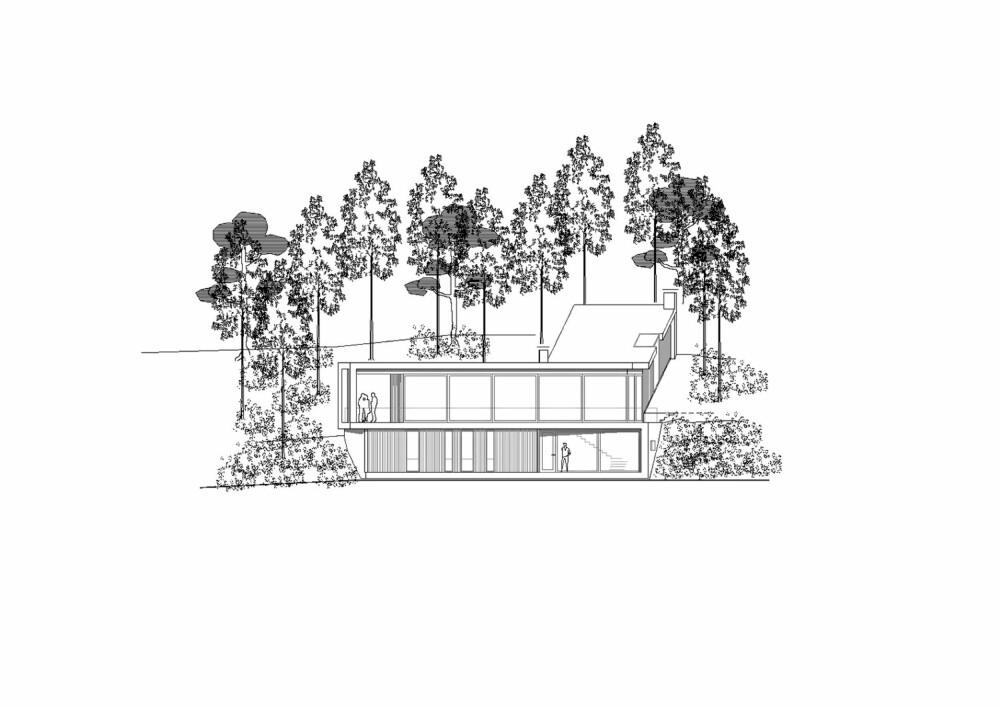 Fasade sør. Hus Rykkin Morfeus arkitekter