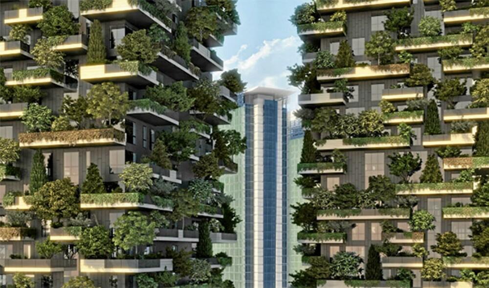 BEDRE KLIMA: Arkitektene ønsker at byggene skal bidra til et bedre miljø og klima i sentrale Milano.