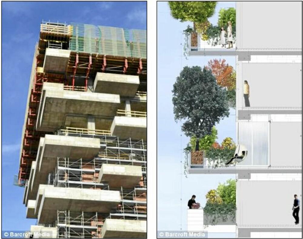 SNART KLAR: De mye omtalte byggene midt i Milano skal stå klare innen utgangen av neste år.