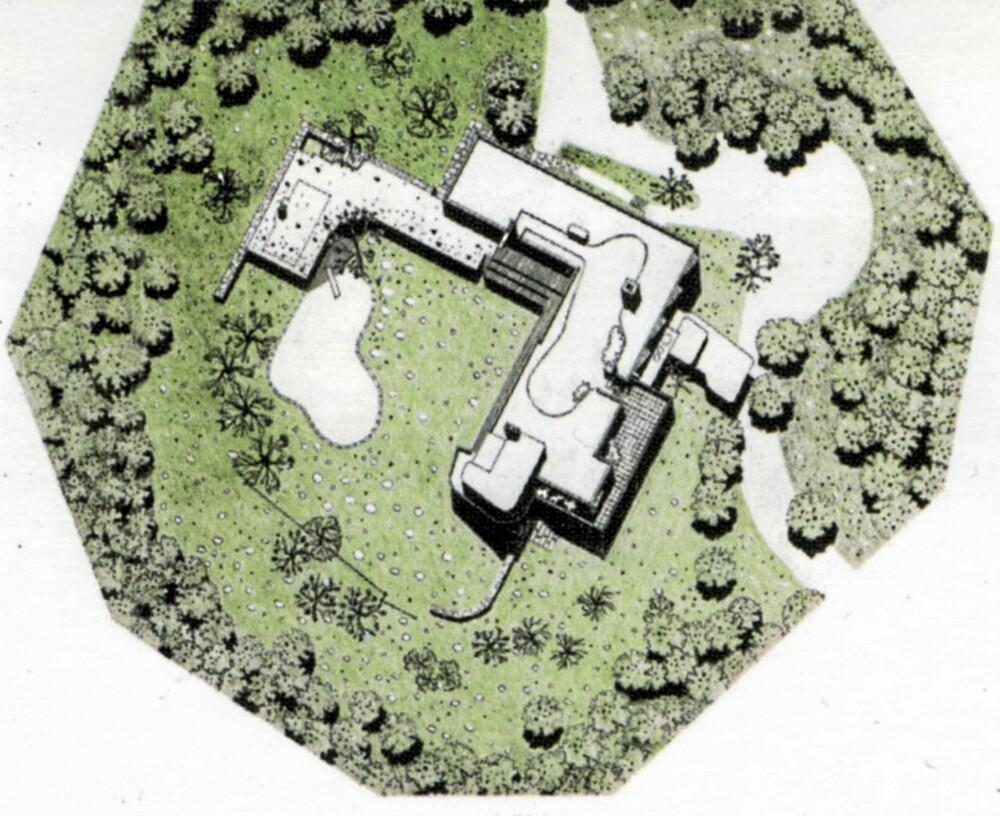 EN HELHET: Huset står i et imtimt samspill med hagen og landskapet omkring.