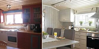 VELLYKKET OPPUSSING: Den gamle 60-tallshytta har blitt totalrenovert. Nytt kjøkken, gulv og overflatebehandling av vegger og tak har gitt hytta et helt nytt uttrykk.