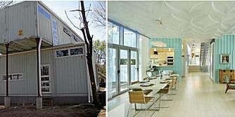 CONTAINERHUS: Fra disse enkle containerne har designer Debbie Glassberg skapt seg et hjem.