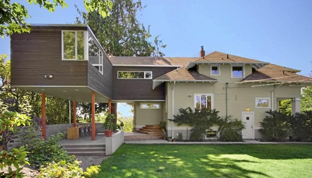 KONTRAST: Det nye tilbygget skiller seg kraftig ut fra det opprinnelige huset fra 1920. Men det var slik eierne ønsket det.