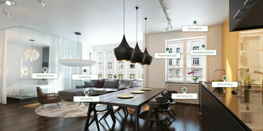 SØMLØST: I fremtiden kan slike såkalt smart-leiligheter bli vanlig. Bildet er fra Lyse Energis demoleilighet.