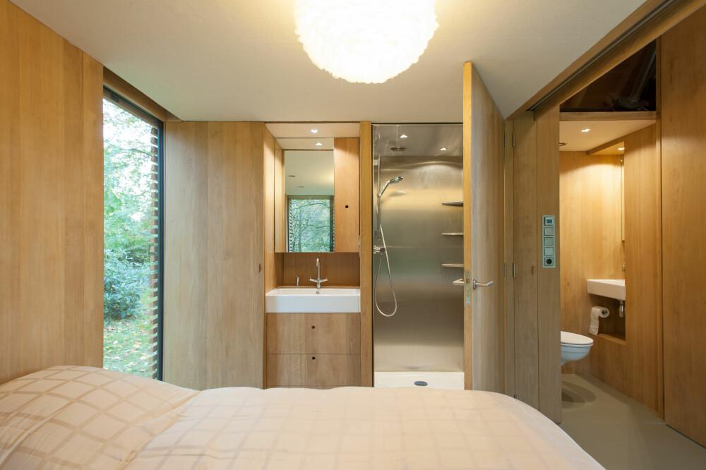 SKJULT OG TILGJENGELIG: Skjult bak veggene ligger wc og bad lett tilgjengelig fra soverommet.