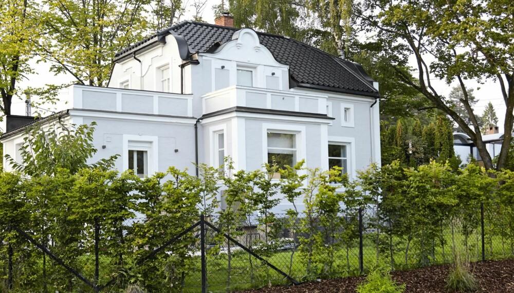 VILLA I JUGENDSTIL: Villa Skovly på Blommenholmen ble bygget i 1910. Boligen er oppført på Bærum kommunes lister over verneverdige bygg.