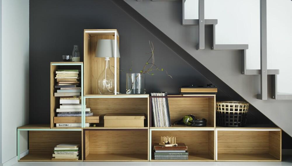 ET SMYKKE I ROMMET: En gjennomført løsning med flotte detaljer viser at plassen under trappa ikke er glemt. Istedet fremstår det som et smykke i rommet.