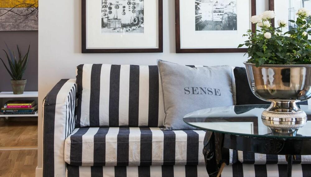 SE, LES OG LÆR: Interiørarkitekt MNIL Bernt A. Pedersens fritidsleilighet er kun på 44 kvm, men har sofakrok, kjøkken, bad og to soverom. Karlstadsofaen fra Ikea ble kjøpt brukt, men ble oppgradert med nytt trekk.