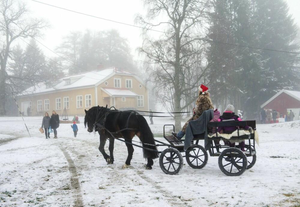 POPULÆRT: Julemarkedet på Aur prestegård er en reise tilbake i tid. Hesteskyss setter en spiss på det hele, og er en populær aktivitet for barna.