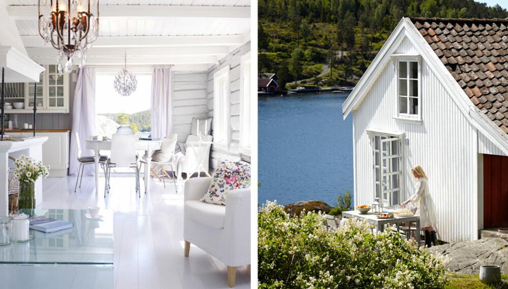IDYLL I KRAGERØ: Filmregissør Annette Sjursen og mannen fant drømmehuset på Oksekastet i Kragerø.