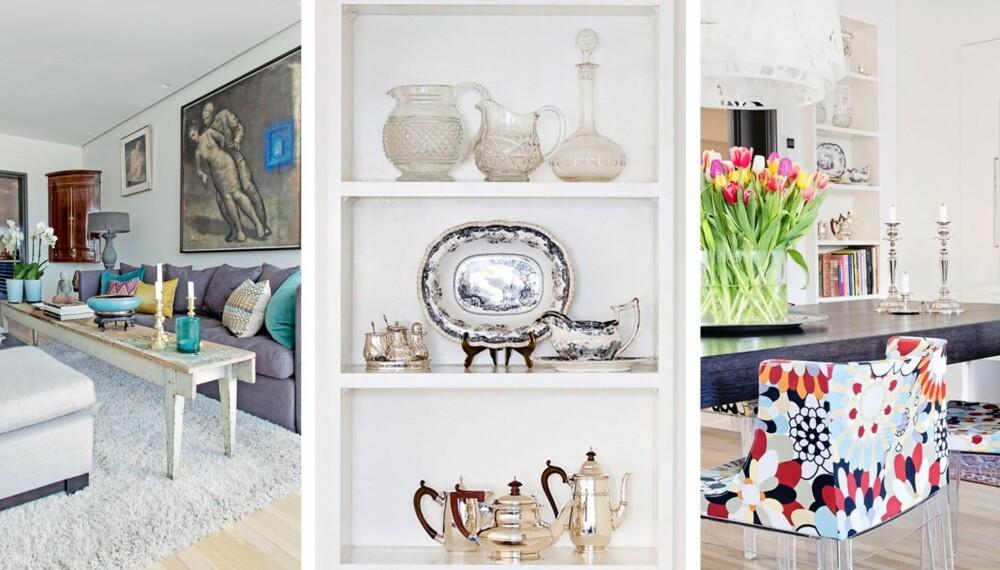 BYVILLA PÅ FROGNER: - Når jeg møblerer blir det fort litt miks og match av gammelt og nytt, men til sammen forteller det en historie om fortid og nåtid, sier beboer Trine Kielland.