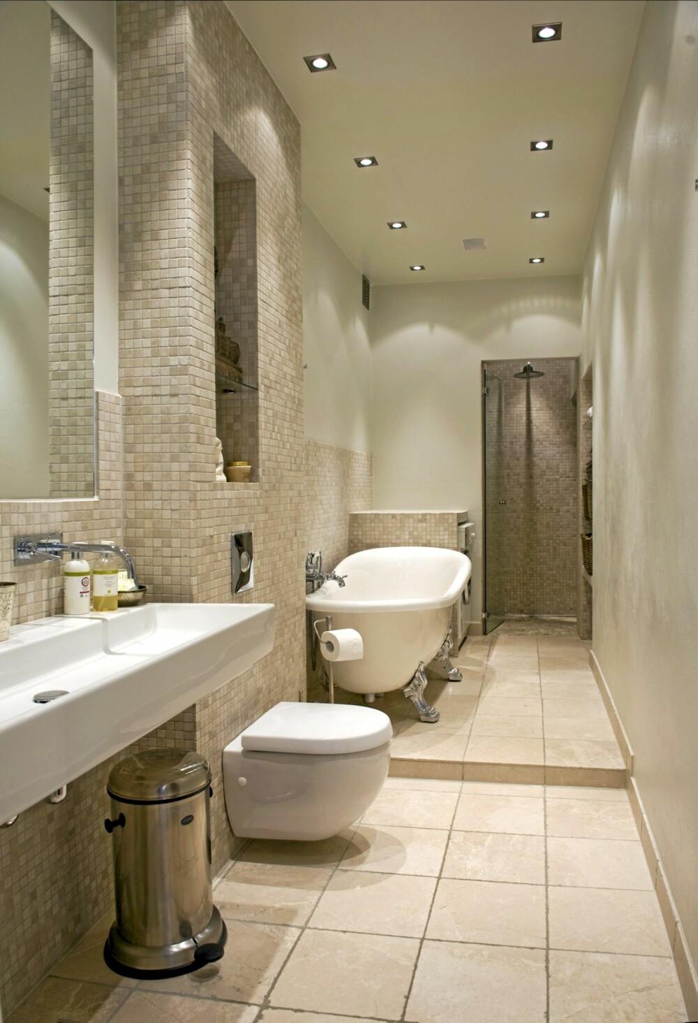 ETTER FORVANDLINGEN: Det er ikke lett å kjenne igjen badet hvis man sammenligner med hvordan det var. Dette oser spa og velvære.