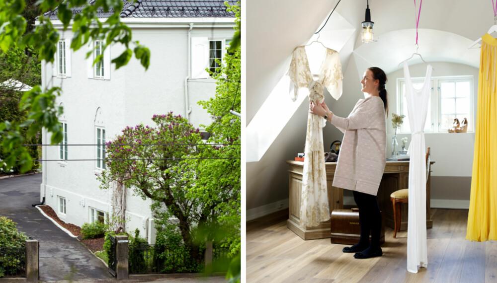 PUSSE OPP GAMMELT HUS: Mye av det originale i huset er beholdt, og dyrket frem.