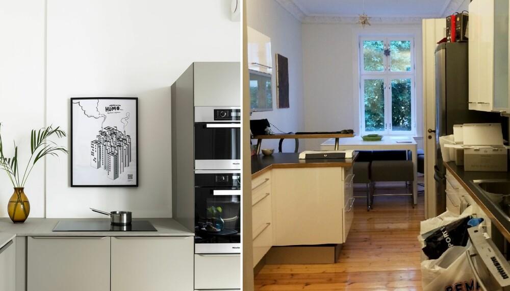 PUSSE OPP KJØKKEN: Det opprinnelige kjøkkenet var lite, og egnet seg bedre som soverom for beboeren.