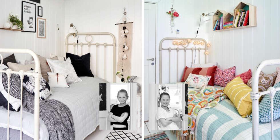 INTERI?R TIL BARNEROM: Sofia sitt rom til venstre. Selma sitt rom til ...